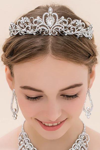 Princess Bridal Tiara   Bride Hair   Bridal Jewellery Hairpiece Accessories