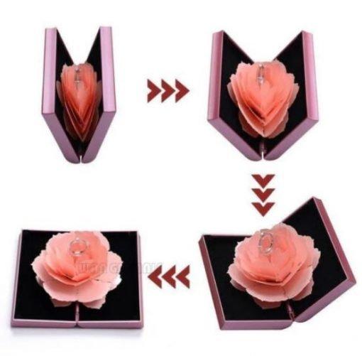 Fold Wedding Ring Case   Engagement Ring   Wedding Ring Box