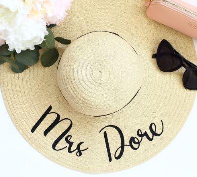Bride or Bride Tribe Floppy Straw Hat | Bride | Bridesmaid | Maid of Honour