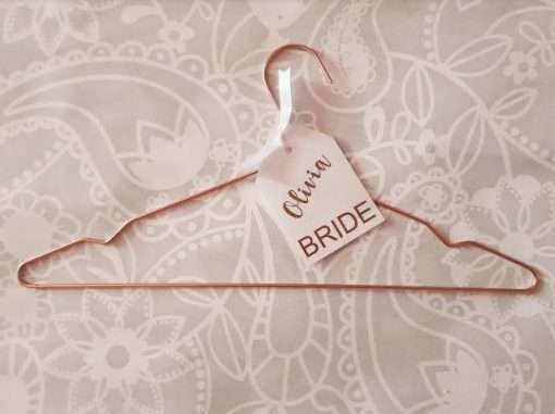 Personalised Rose Gold Bridal Coathanger   Wedding & Bridal Team Dresses and Suit Attire