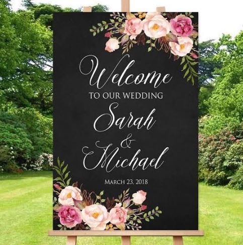 Personalised Wedding Sign   Customised Text   All sizes   Any Design