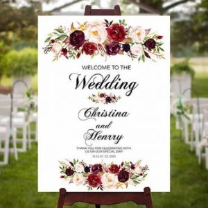 Personalised Wedding Sign | Customised Text | All sizes | Any Design