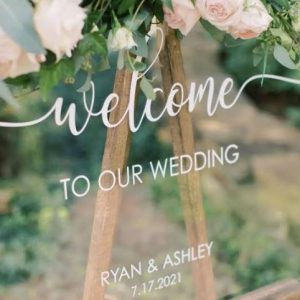Personalised Wedding Sign | Clear Perspex | Customised Text | All sizes