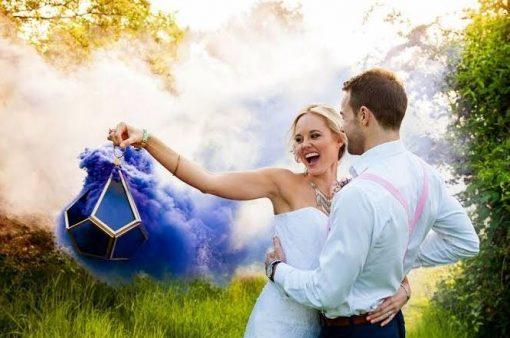 Colourful Smoke Bombs | Wedding | Engagement Photo Shoot