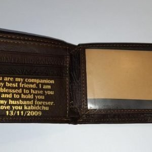 Personalised Leather Wallet | Perfect Groom, Groomsman, Father Gift