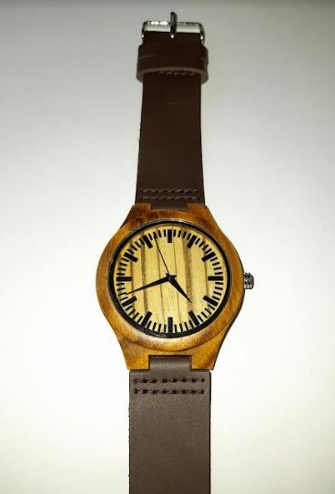 Personalised Wooden Watch with Leather Strap | Perfect Groom, Groomsman, Father Gift