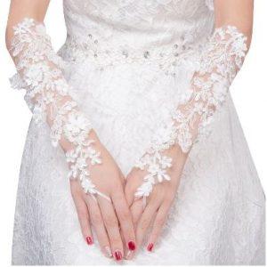 Wedding Bridal Lace Gloves | Fingerless | Bride Gloves Accessories