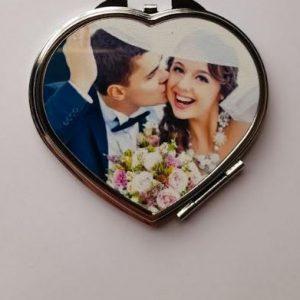 Customised Bridal Heart Compactum Make-up Mirror | Bridesmaid Gift