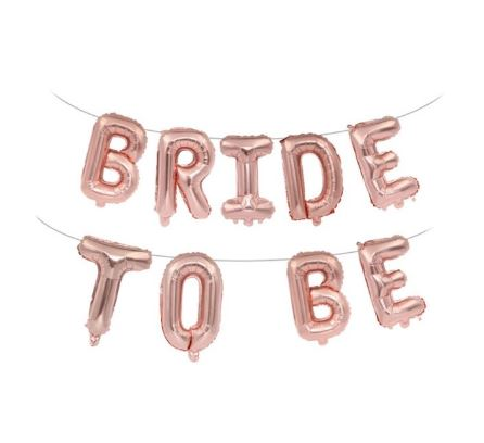 BRIDE TO BE Rose Gold Balloon | Foil Letters | Hens Party Bachelorette FUN!