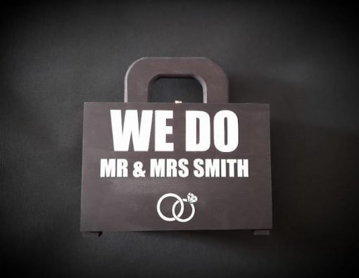 Personalised pageboy ring security box case
