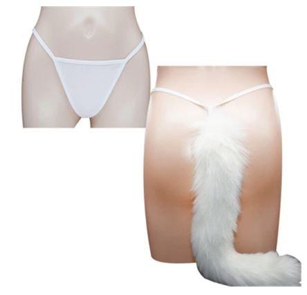 Playful Panties | Cosplay | Honeymoon Fun | G-string Panties with Fur Tail