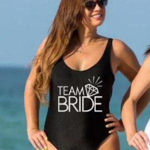 Personalised Bridal Costume | Bridal Swimming Costume | Bride, Bride Squad, Bridesmaid | Hen's Party Attire