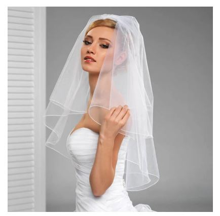 Stunning Bridal Wedding Veil   Bride Veil with comb   2 layered veil