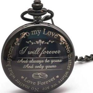 Groom or Bride Pocket Watch | Husband or Wife Wedding Gift