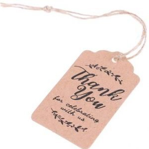Wedding Gift Favour Tag