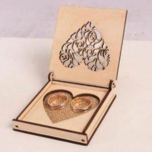 Personalised Wooden Wedding Ring Box | Customised Wedding Ring Gift Box