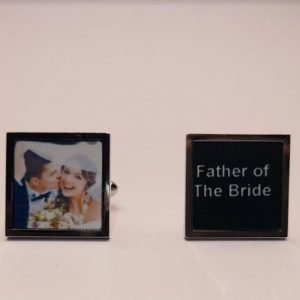 Personalised Cufflinks | Customised Photo or Text Cufflinks | Perfect Wedding Gift