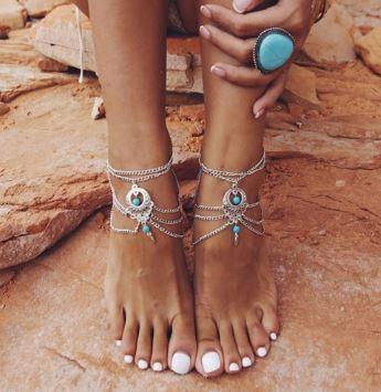 Anklet Bracelet | Barefoot Beach Sandals