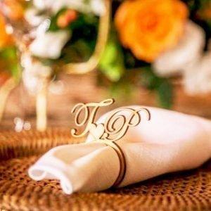 Personalised Name Serviette Holder | Customised Wedding Napkin | Wedding Decor | Gift Favour | Seating Plan